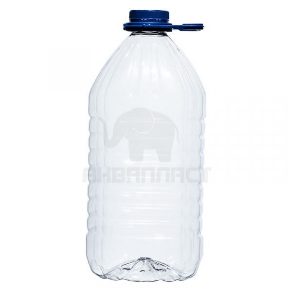 Бутылка ПЭТ 4.5 л. горло 48 мм. с колпачком и ручкой