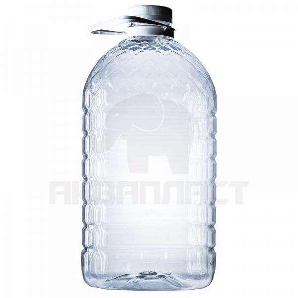 Бутылка ПЭТ 5.0 л. горло 48 мм (Квадратная) с колпачком и ручкой