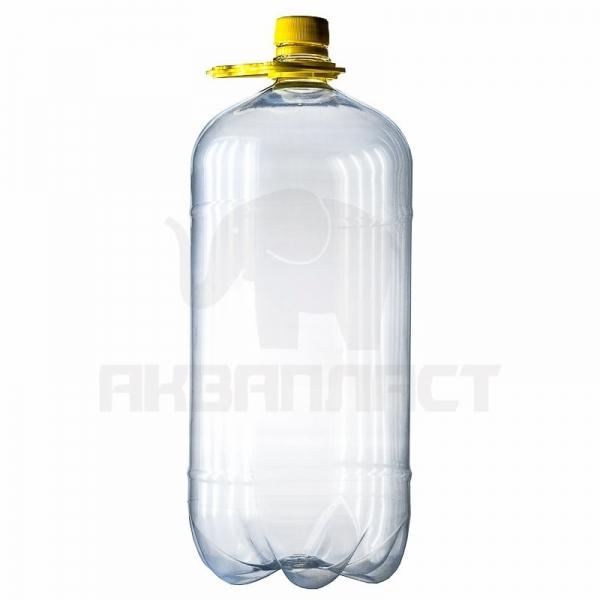 Бутылка ПЭТ 3.0 л. горло 28 мм. с колпачком и ручкой (гладкая)