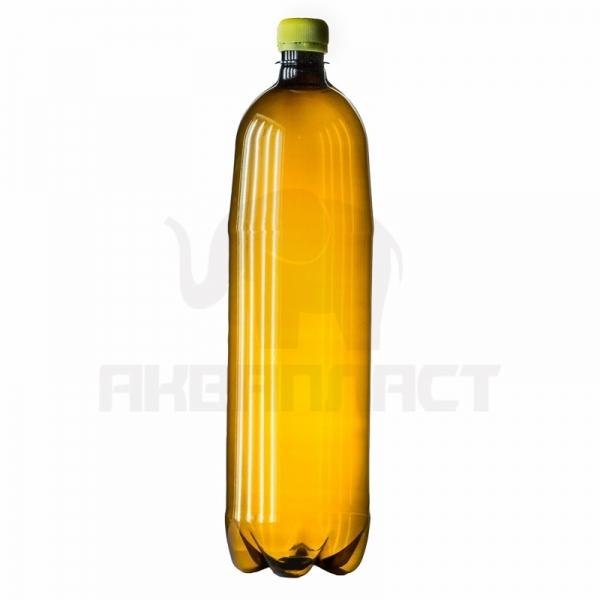 Бутылка ПЭТ 1.5 л. горло 28 мм. тёмная с колпачком