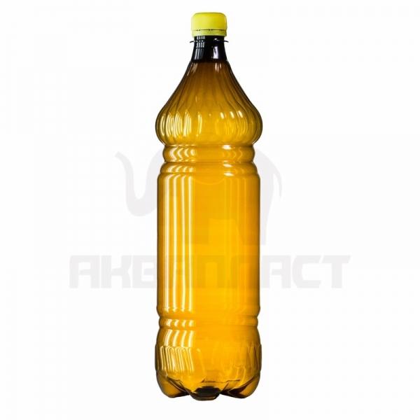 Бутылка ПЭТ 1.5 л. горло 28 мм. ВВС с колпачком тёмная
