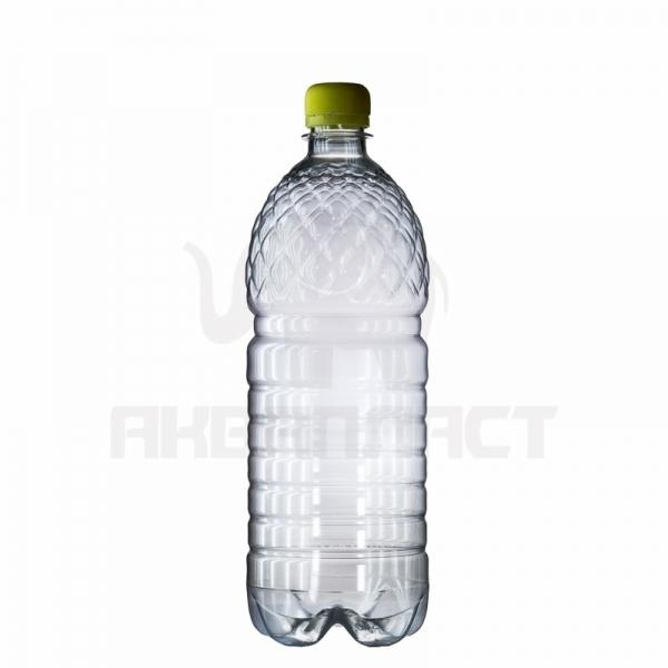 Бутылка ПЭТ 1.0 л. горло 28 мм. (рефленая) с колпачком