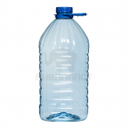 5,0 л. ПЭТФ бутылка б/ц 48 мм квадратная 24 шт Колпачок Ручка